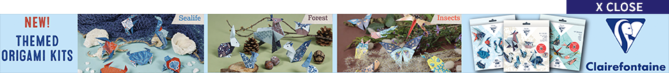 New! Themed origami kits | Sealife | Forest | Insects | Clairefontaine