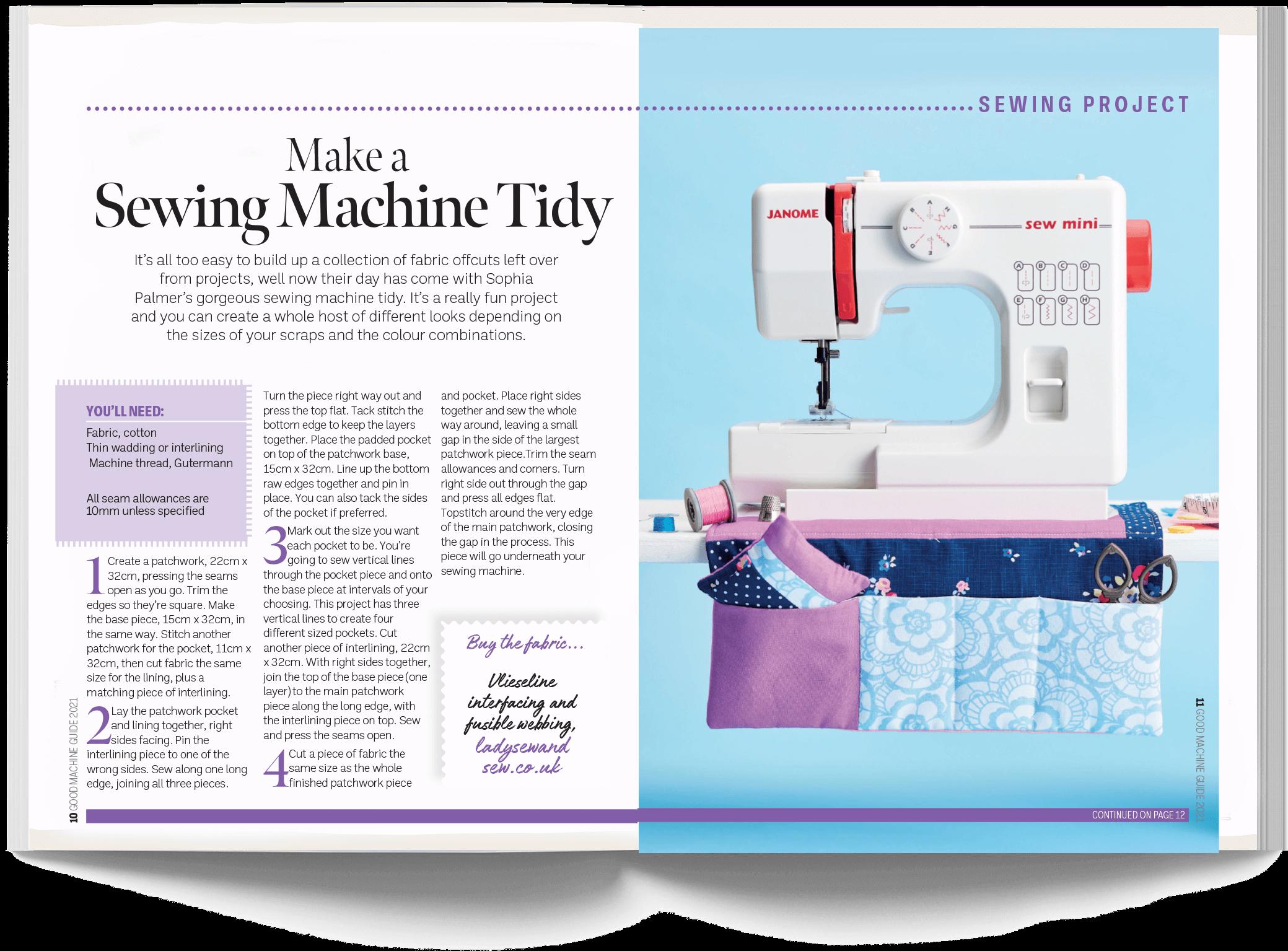Make a Sewing Machine Tidy